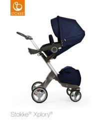 Stokke Xplory, Sittvagn, Deep Blue inkl. Summer Kit, Sandy Beige, Paket