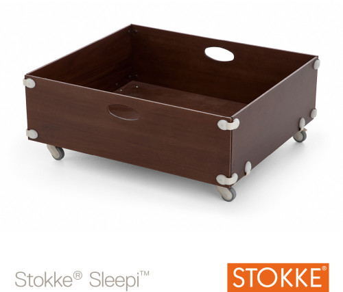 Stokke Sleepi, Sänglåda, Junior, Walnut Brown