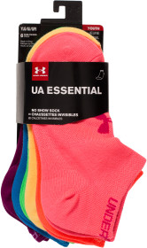Under Armour, Strumpor, 6-pack, Assorted brights