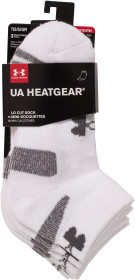 Under Armour, Strumpor, 3-pack, White
