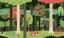 Ingela P Arrhenius, Fondvägg, In the forest green