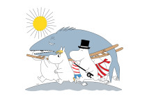 Mumin, Fondvägg, Moomin Big fish