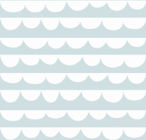 Sne Design, Fondvägg, Changing waves dusty mint