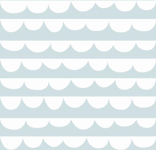 Sne Design, Fondvägg, Changing waves dusty mint