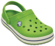 Crocs, Tofflor, Kids Crocband, Parrot Green/White