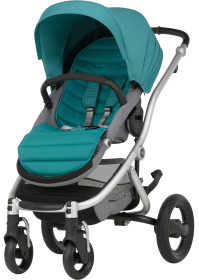Britax Affinity, 2016, Sittvagn, Silver/Lagoon Green, Paket