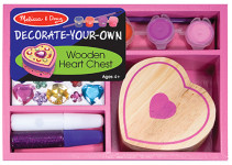 Melissa & Doug, Decorate your own, Wooden Heart Chest