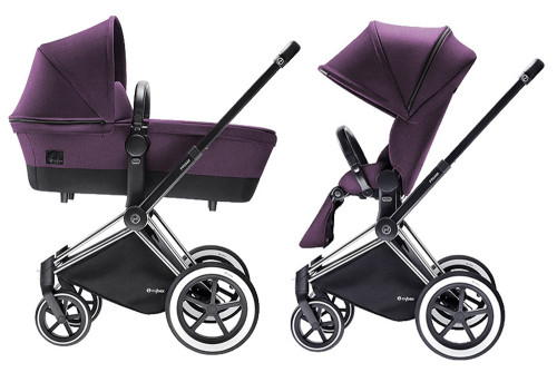 Cybex Priam 2016, Duovagn, Chrome chassi/All Terrain, Princess Pink, Paket
