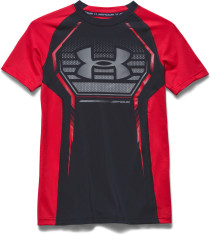Under Armour, T-shirt, Armour Up, Black/Risk Red