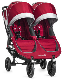Baby Jogger, Sittvagn, City Mini GT Double, 2014, Crimson/Gray