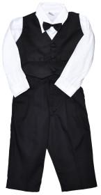 Jocko, Kostym, 4-delar, Svart/Vit