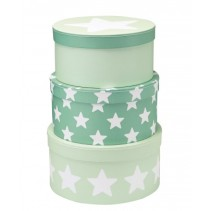 Kids Concept, Pappboxar Star, 3-pack Mint