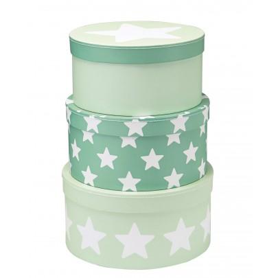 Kids Concept, Pappboxar Star, 3-pack Mint