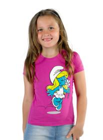 Smurfarna, T-shirt rosa, 4-6 år