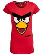 Angry Birds, T-shirt röd, Flickor 8-9 år