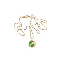 Barnkammaren, Halsband, Guldfärgad, Grön