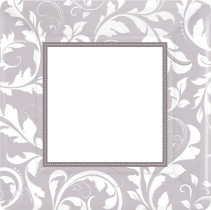 Elegant Silver, Tallrik, 25 cm, 8 st