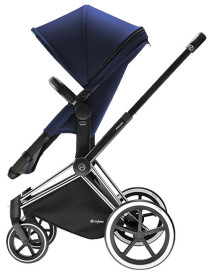 Cybex Priam 2016, 2-i-1-vagn, Chrome chassi/Trekking, Royal Blue, Paket