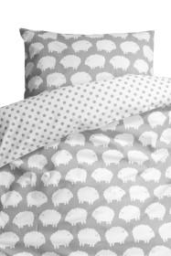 Färg & Form, LAMM, Påslakanset, 150×210 & 50×60 cm, Grå