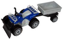 Plasto Fyrhjuling med plog och släp – Blå