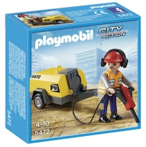 Playmobil City Action 5472, Byggarbetare med Maskin