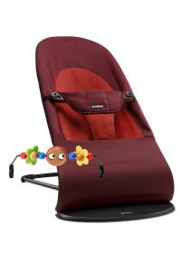 BABYBJÖRN, Balance Soft, Babysitter + Träleksak, Rost/Orange, Paket