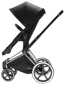 Cybex Priam 2016, 2-i-1-vagn, Chrome chassi/Trekking, Happy Black, Paket