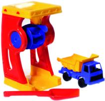 Plasto, Set med sandhjul, lastbil & spade