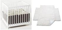 Baby Trold, Lekhage + Spjälskydd, 100×100 cm, Beige, Paket