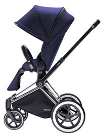 Cybex Priam 2016, Sittvagn, Chrome chassi/All Terrain, Royal Blue, Paket