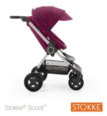 Stokke Scoot V2, Sittvagn, Purple + Style Kit, Soft Dots, Paket