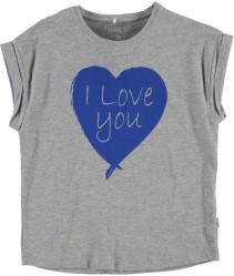 Name it, T-shirt, Felina, Kids, Grey Melange
