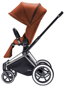Cybex Priam 2016, Sittvagn, Svart chassi/All Terrain, Autumn Gold, Paket