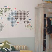 Roommates, Väggdekal, Världskarta, Stor